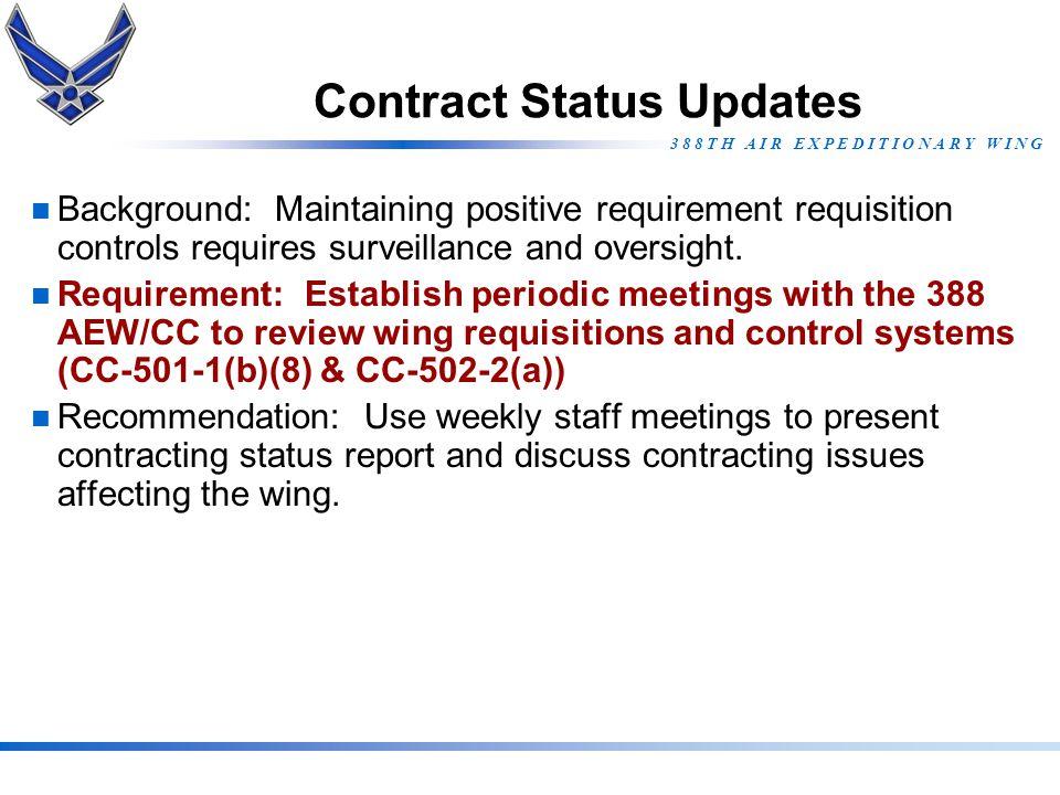 Contract Status Updates