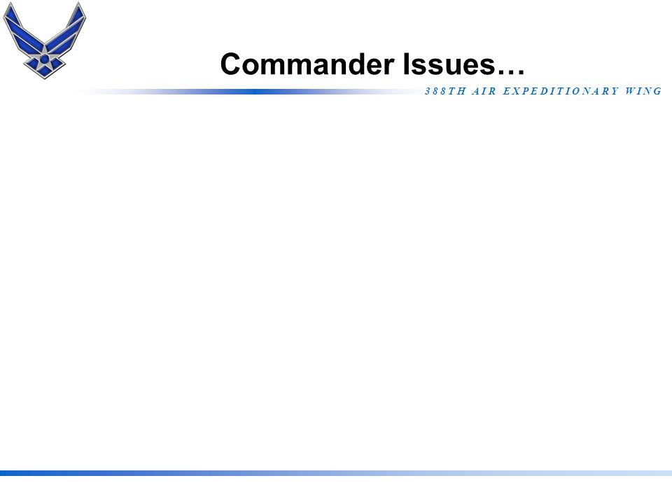 Commander Issues…