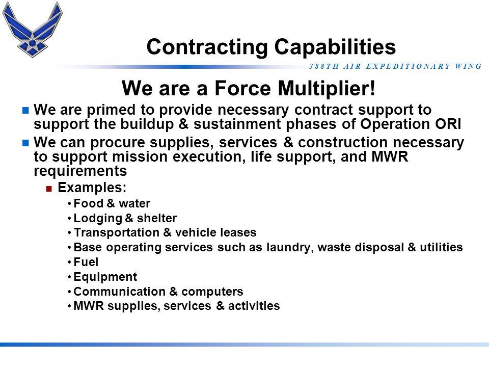 Contracting Capabilities