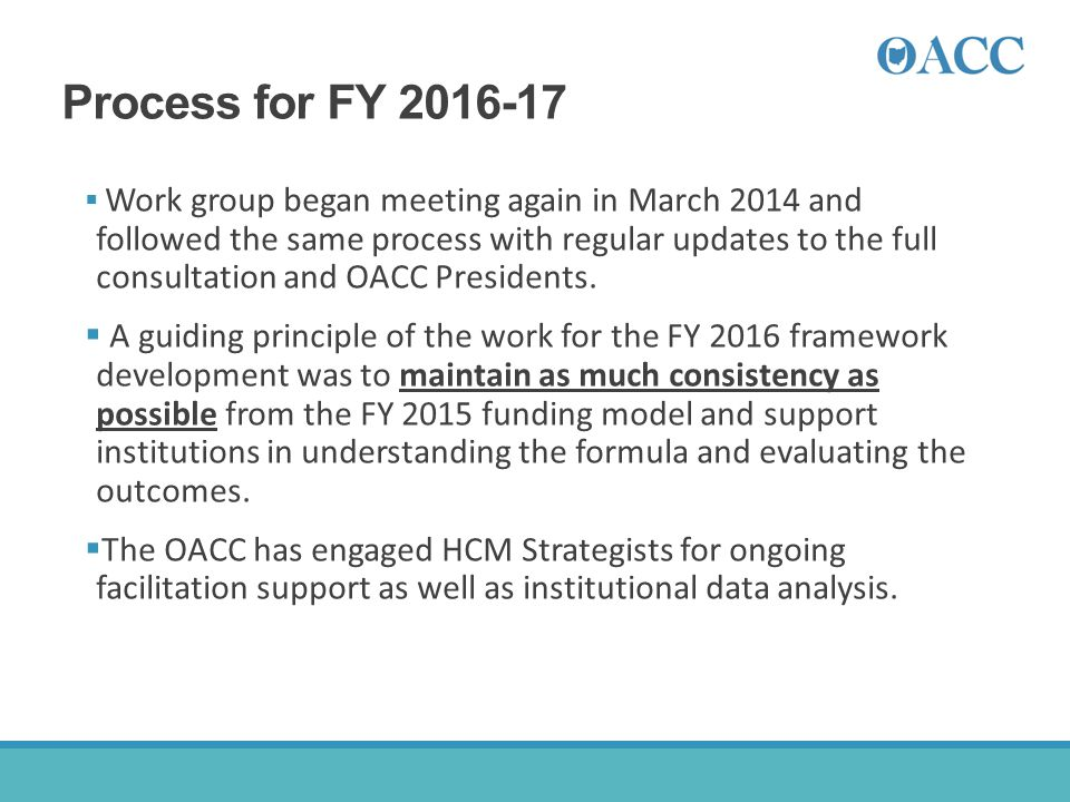 Process for FY 2016-17