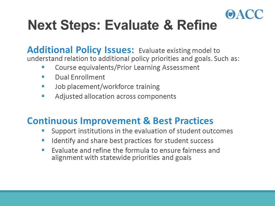 Next Steps: Evaluate & Refine