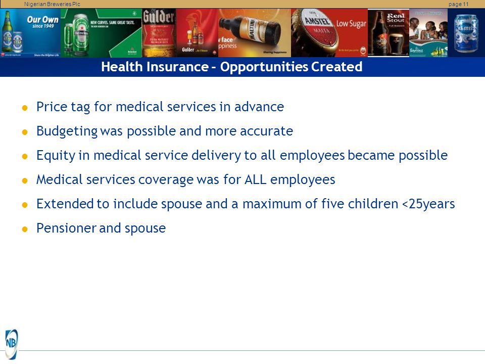 Health Insurance - Opportunities Created