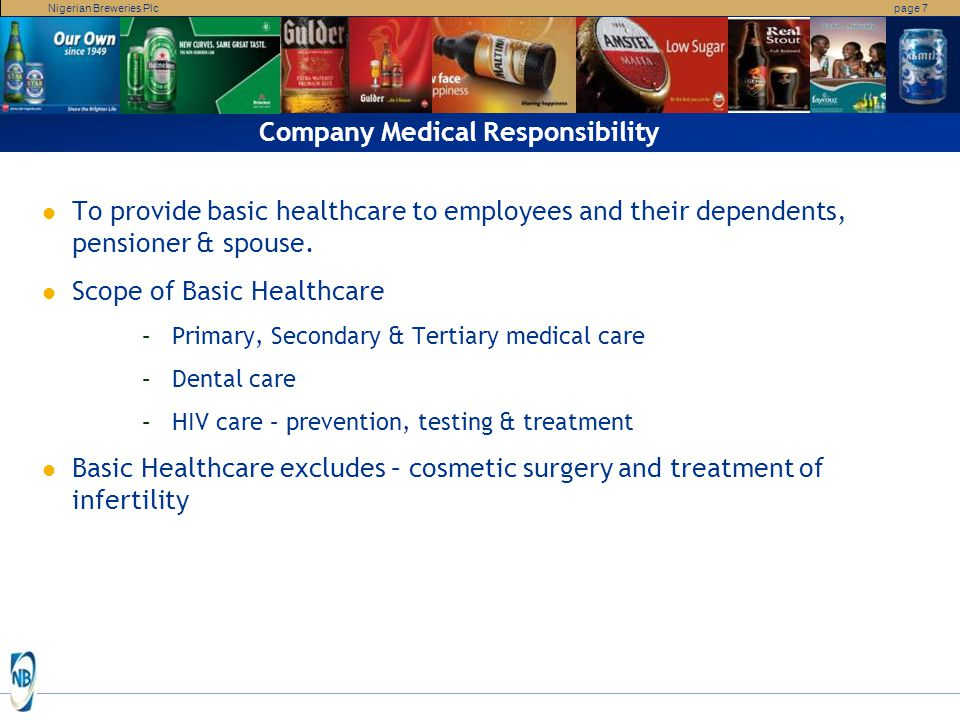 Company Medical Responsibility