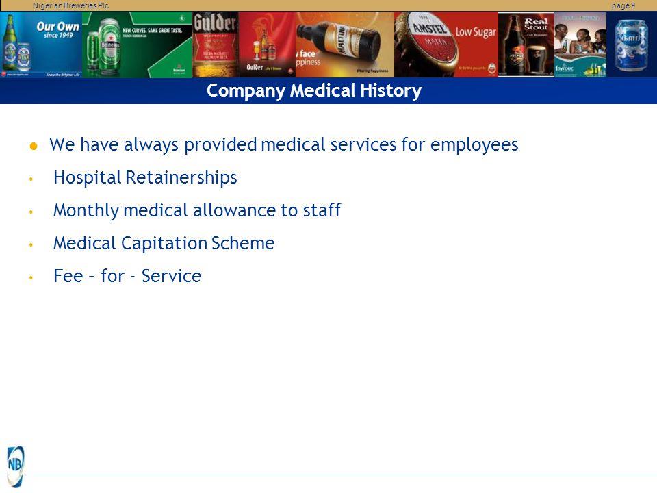 Company Medical History