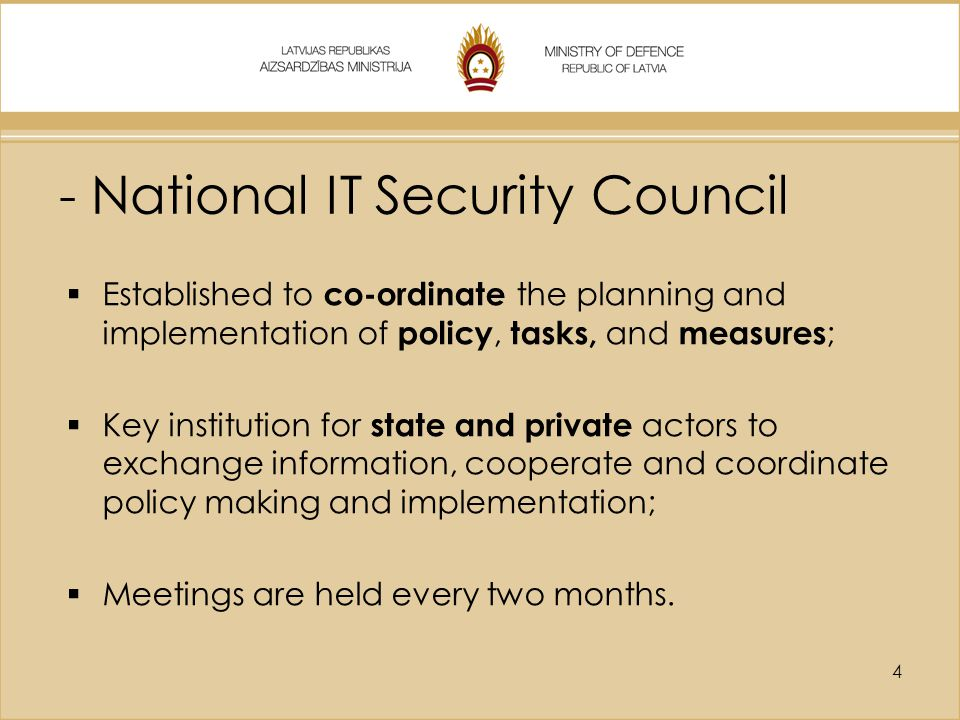 - National IT Security Council
