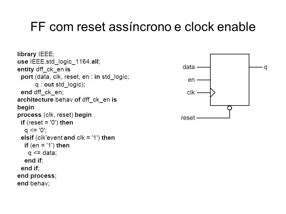 FF com reset assíncrono e clock enable