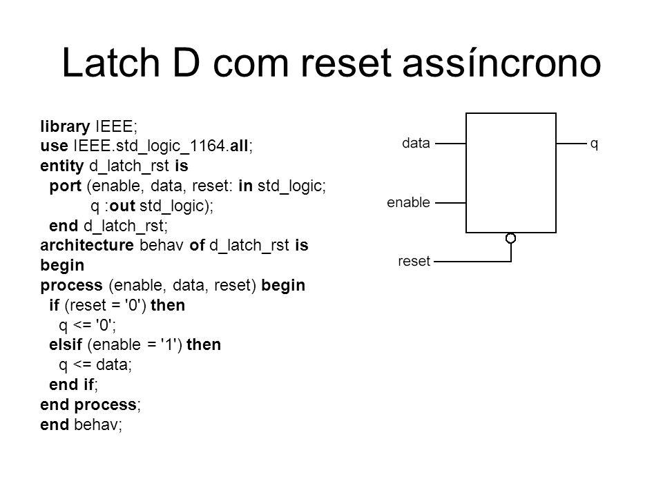 Latch D com reset assíncrono