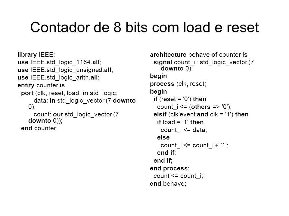 Contador de 8 bits com load e reset