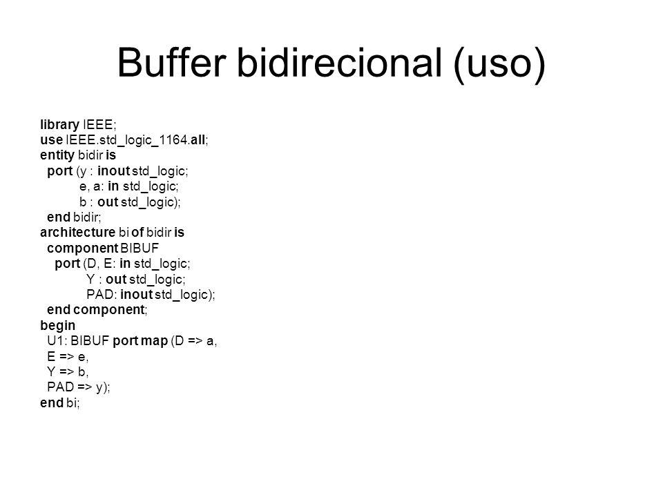 Buffer bidirecional (uso)