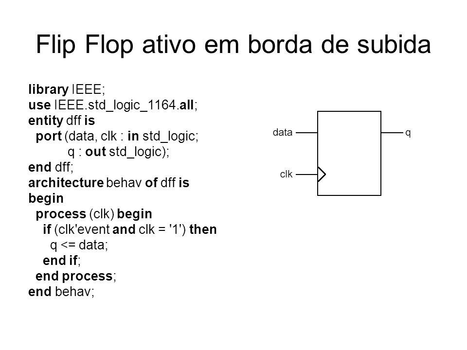 Flip Flop ativo em borda de subida