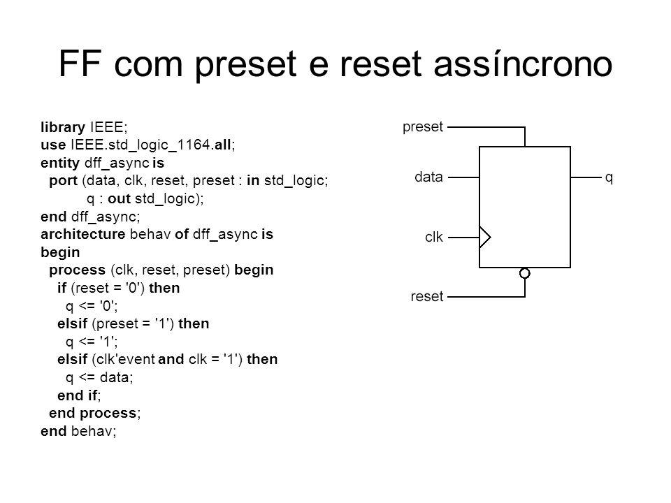 FF com preset e reset assíncrono