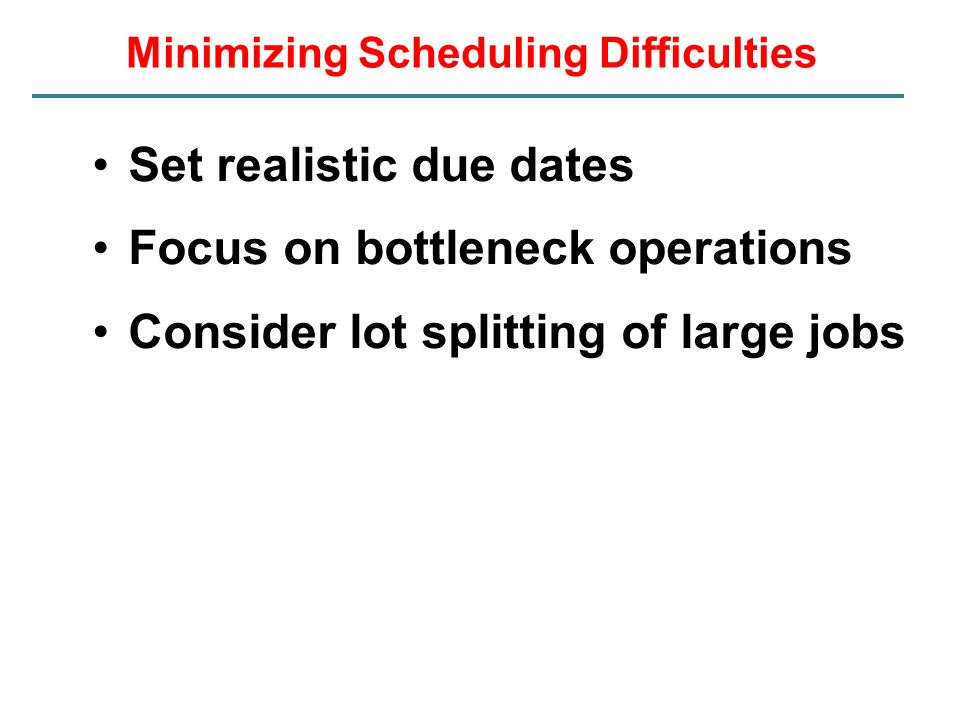 Minimizing Scheduling Difficulties