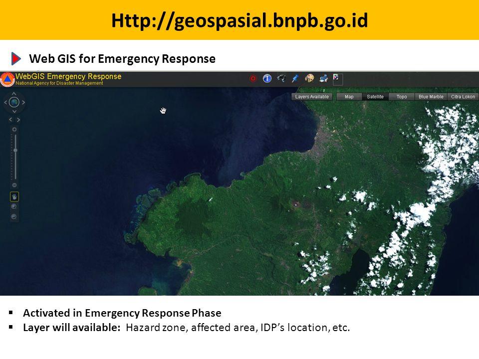 Http://geospasial.bnpb.go.id Web GIS for Emergency Response
