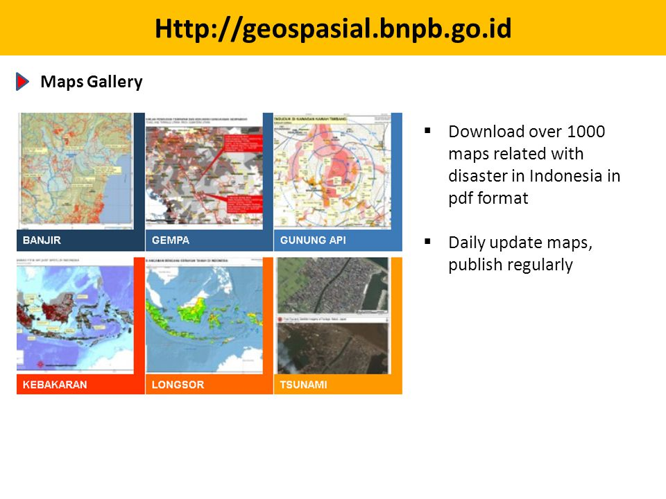Http://geospasial.bnpb.go.id Maps Gallery