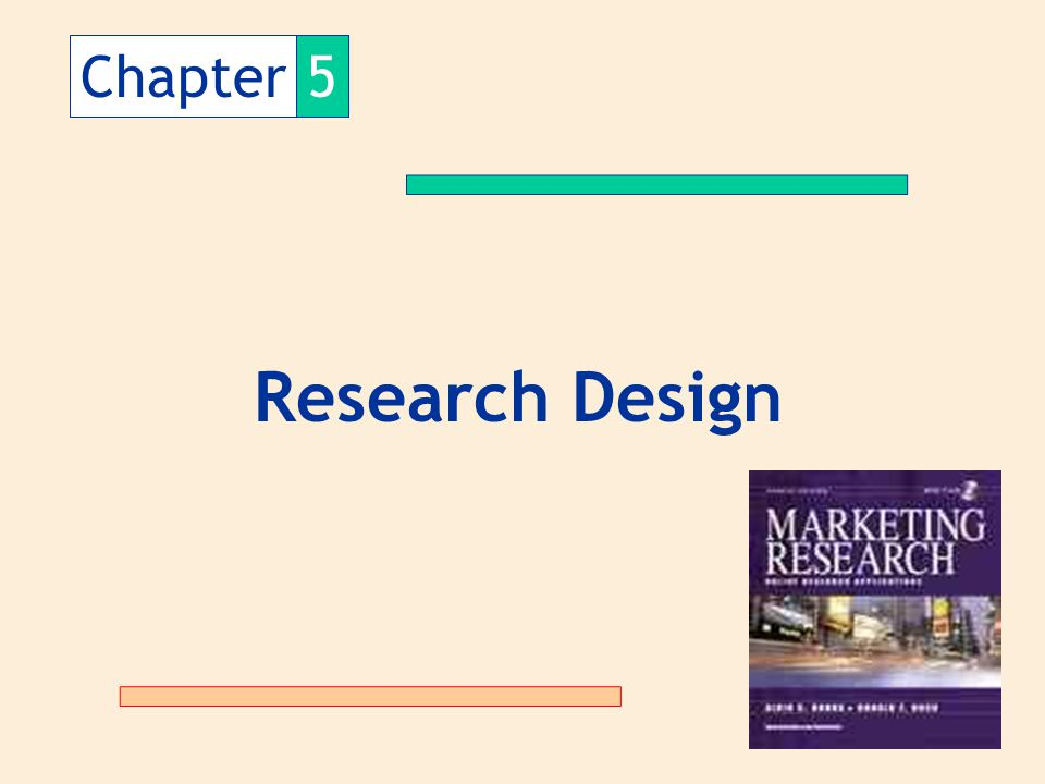 Chapter 5 Research Design