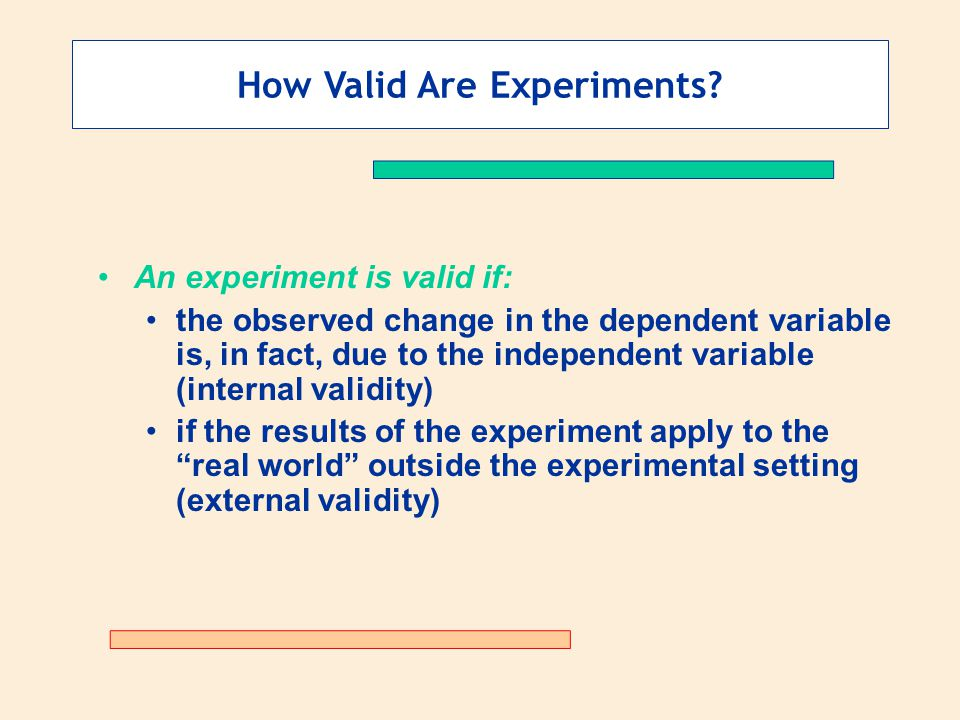 How Valid Are Experiments