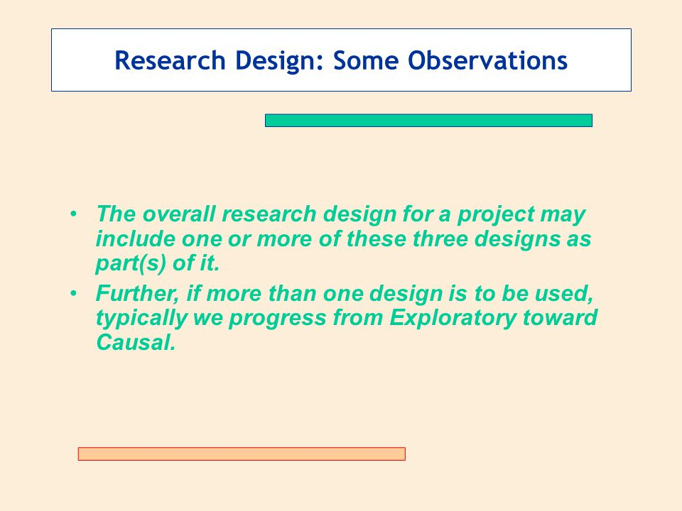 Research Design: Some Observations