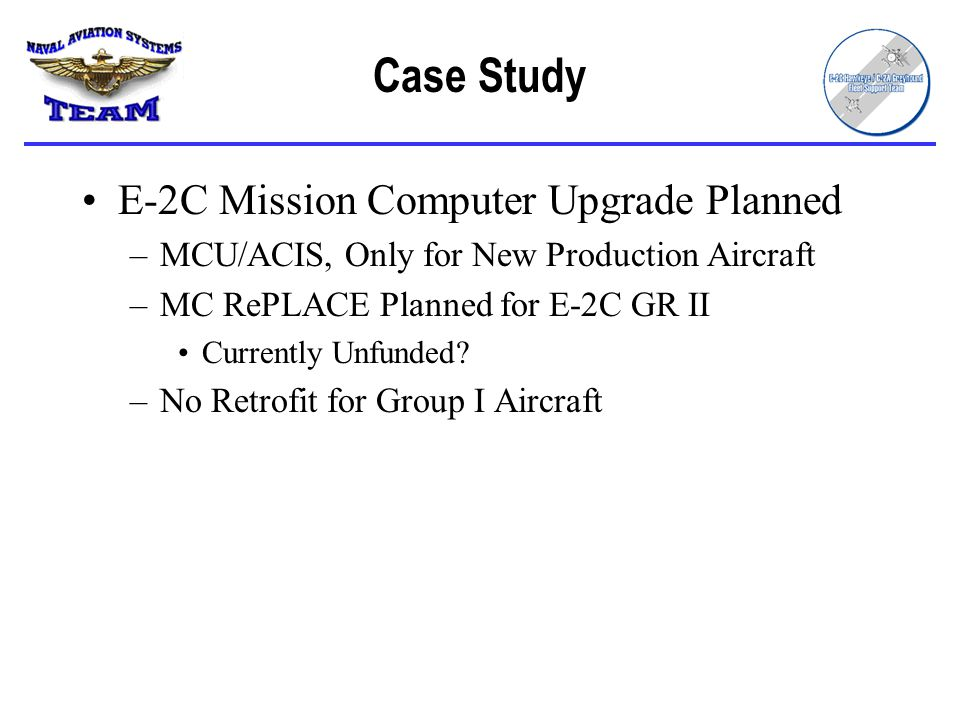 Case Study E-2C Mission Computer Upgrade Planned