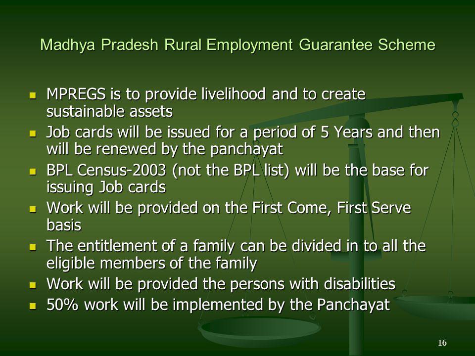 Madhya Pradesh Rural Employment Guarantee Scheme