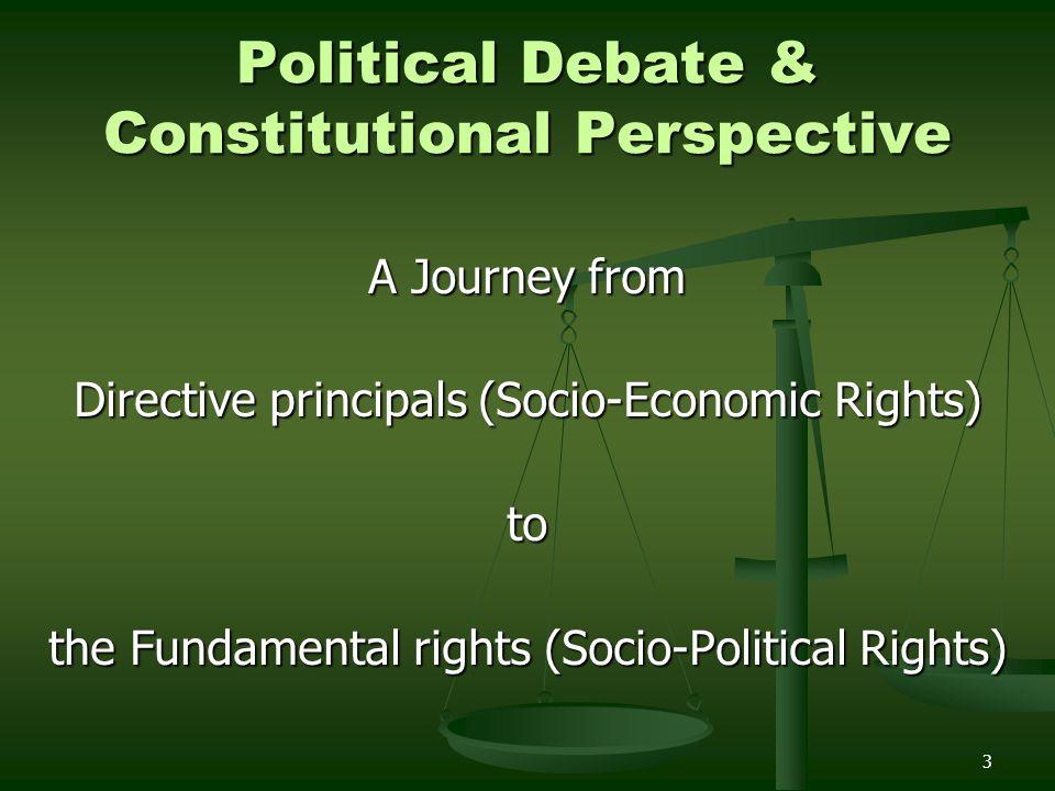 Political Debate & Constitutional Perspective