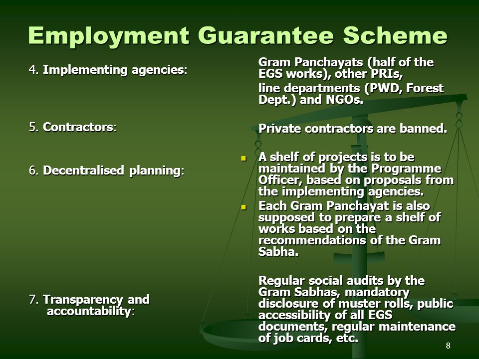 Employment Guarantee Scheme