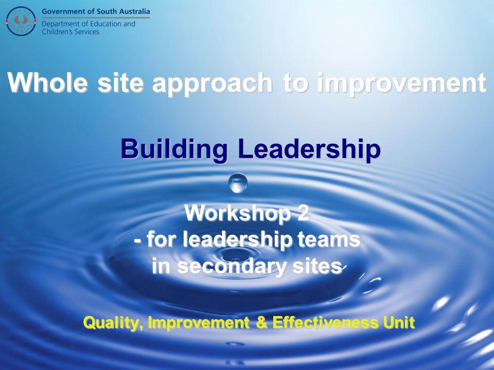 Quality, Improvement & Effectiveness Unit