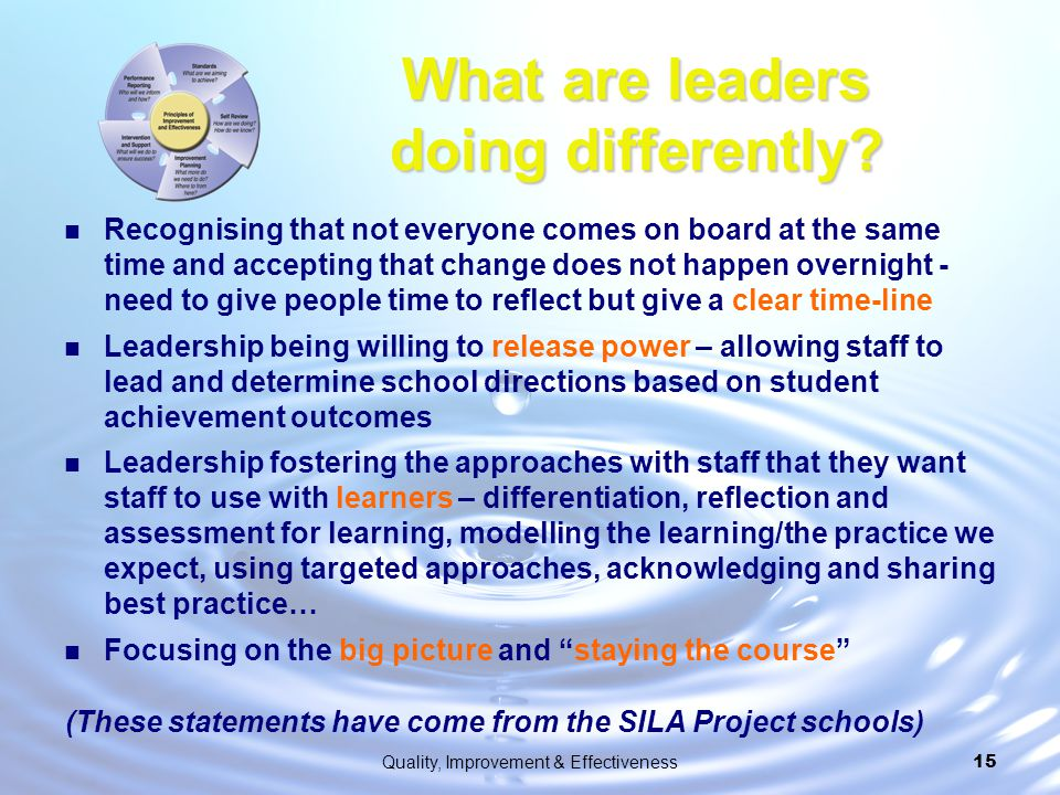 What are leaders doing differently