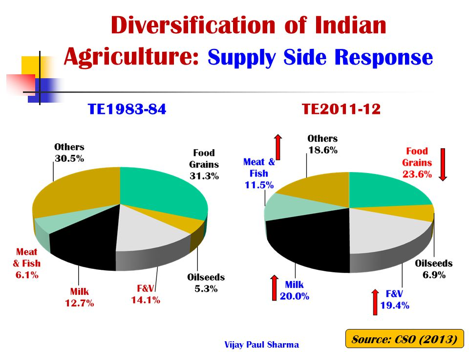 Diversification of Indian Agriculture: Supply Side Response