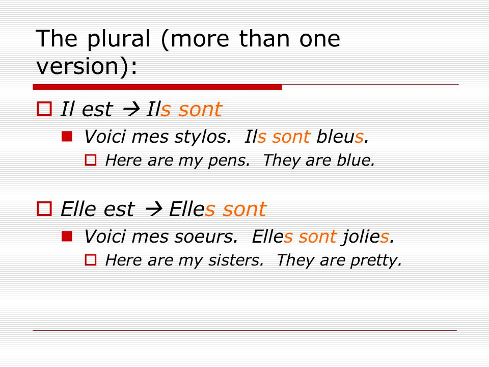 The plural (more than one version):