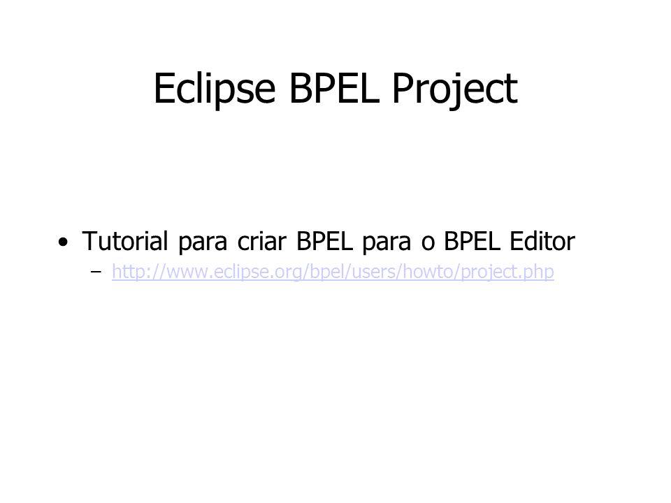 Eclipse BPEL Project Tutorial para criar BPEL para o BPEL Editor
