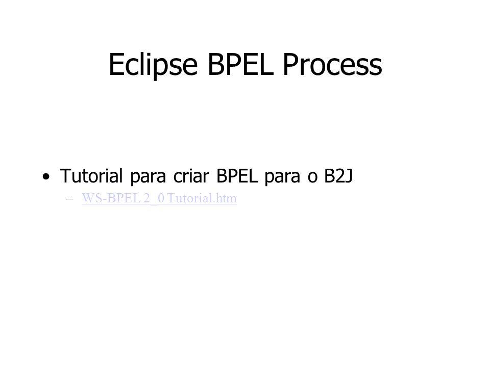 Eclipse BPEL Process Tutorial para criar BPEL para o B2J