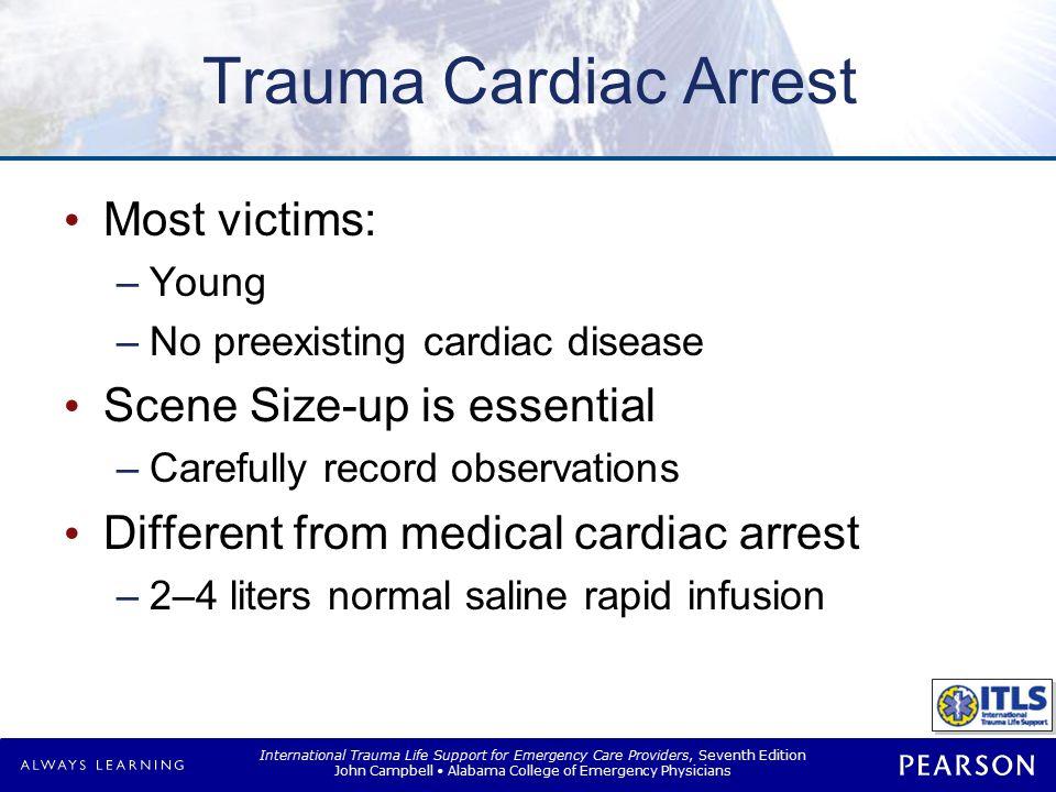 Trauma Cardiac Arrest Special groups Isolated head injury