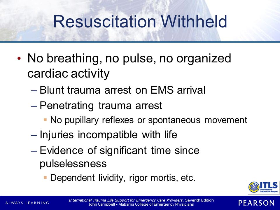 Guidelines for Withholding or Terminating Resuscitation