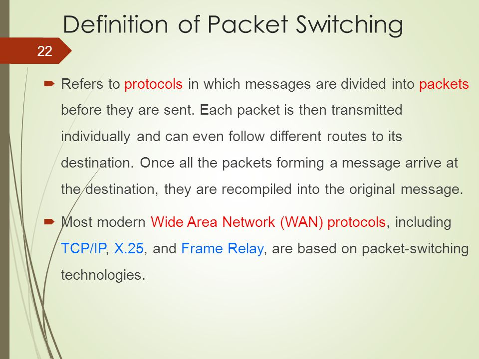 Definition of Packet Switching