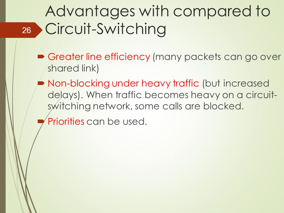 Advantages with compared to Circuit-Switching