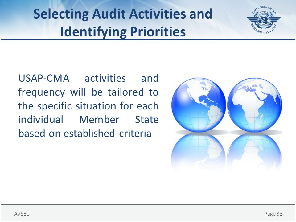 Selecting Audit Activities and Identifying Priorities
