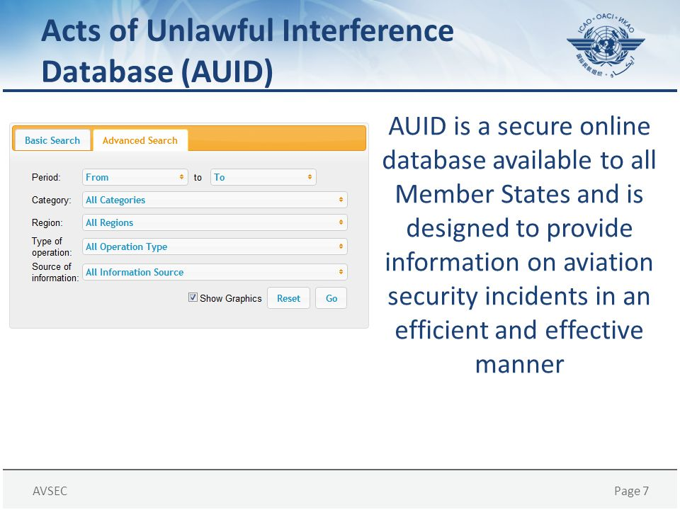 Acts of Unlawful Interference Database (AUID)