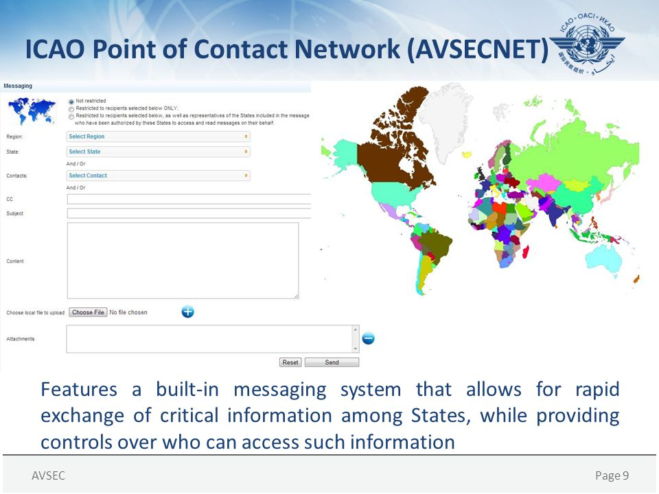 ICAO Point of Contact Network (AVSECNET)