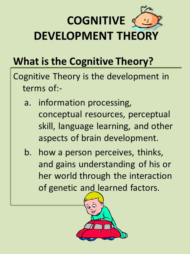 COGNITIVE DEVELOPMENT THEORY