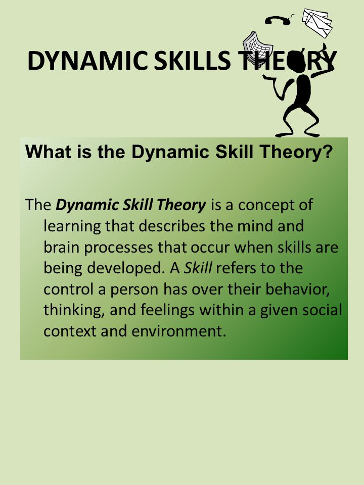 DYNAMIC SKILLS THEORY What is the Dynamic Skill Theory