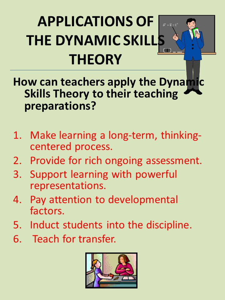 APPLICATIONS OF THE DYNAMIC SKILLS THEORY