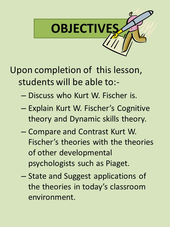 OBJECTIVES Upon completion of this lesson, students will be able to:-