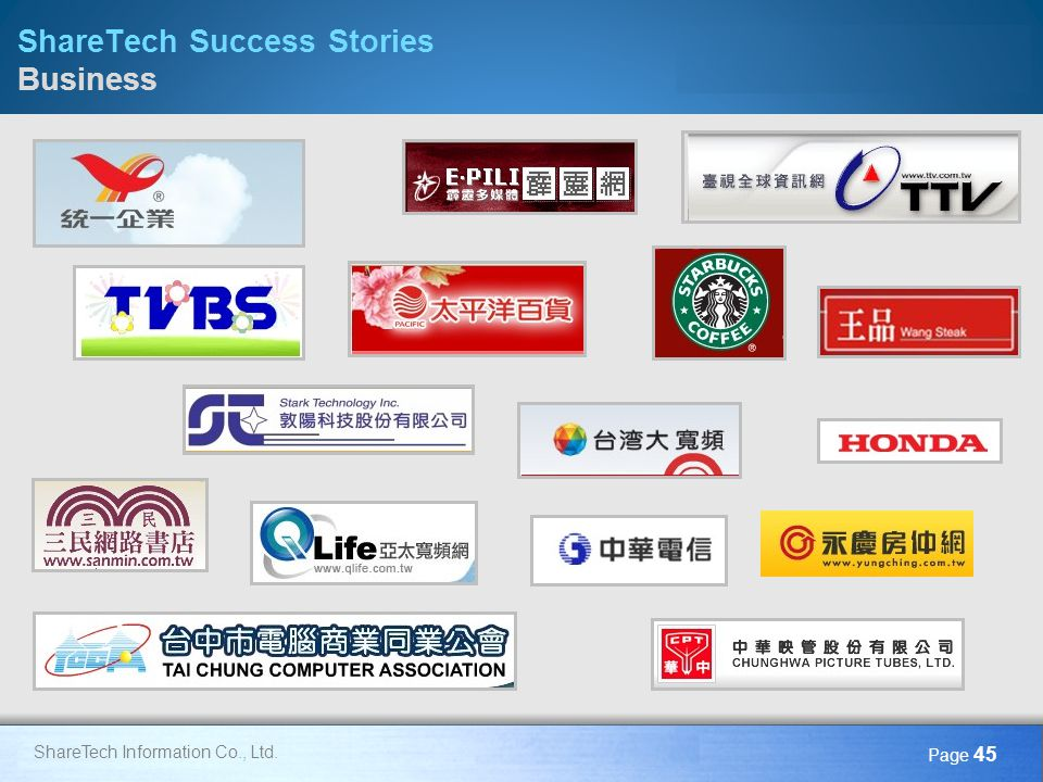 ShareTech Success Stories Business