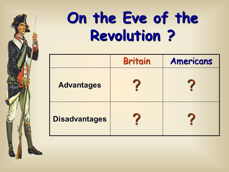 On the Eve of the Revolution