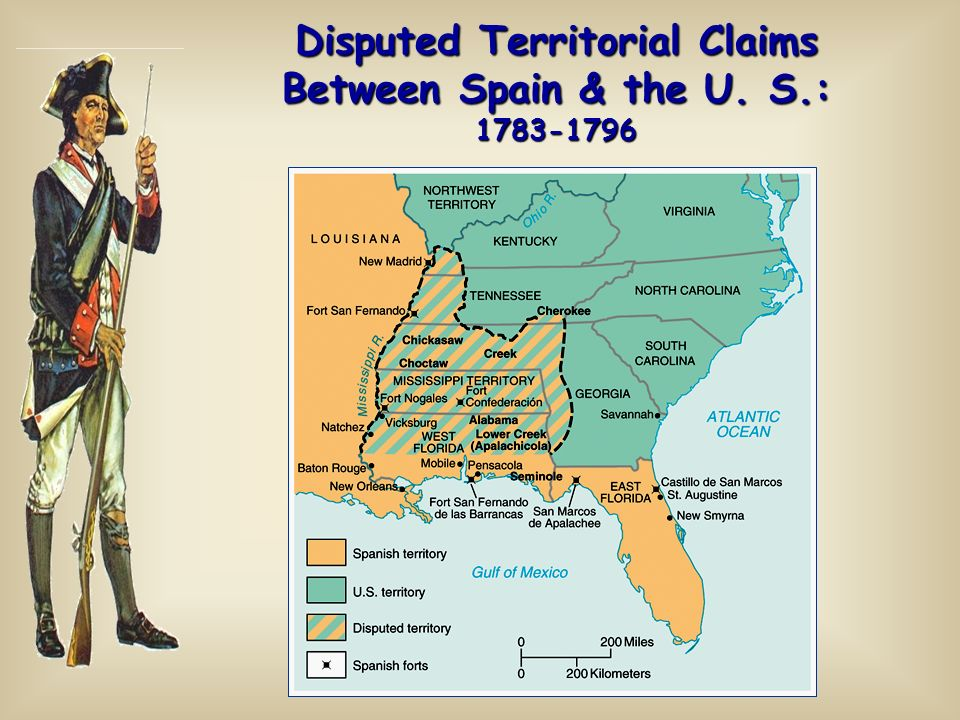 Disputed Territorial Claims Between Spain & the U. S.: 1783-1796
