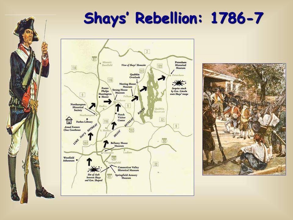 Shays' Rebellion: 1786-7