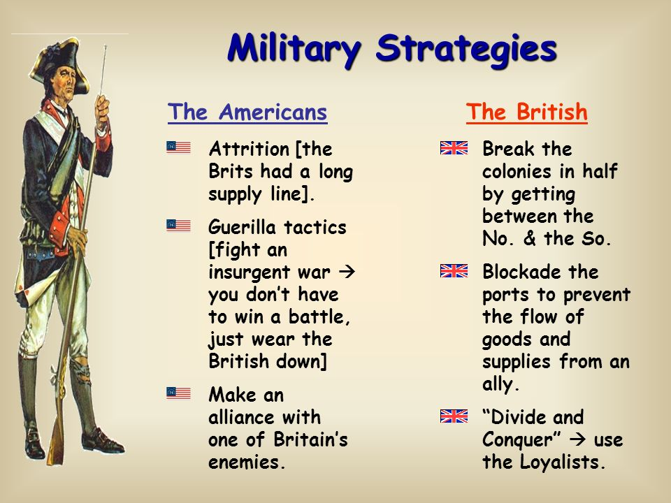 Military Strategies The Americans The British