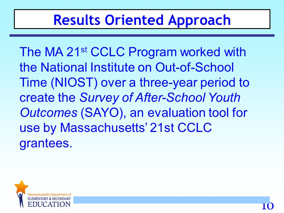 Results Oriented Approach