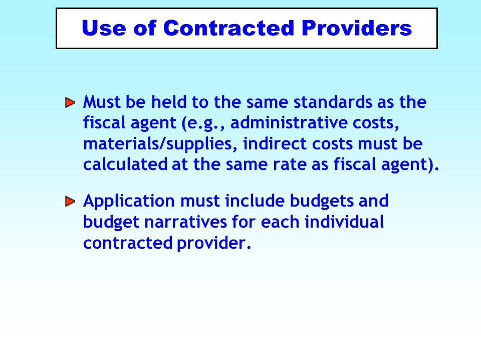 Use of Contracted Providers