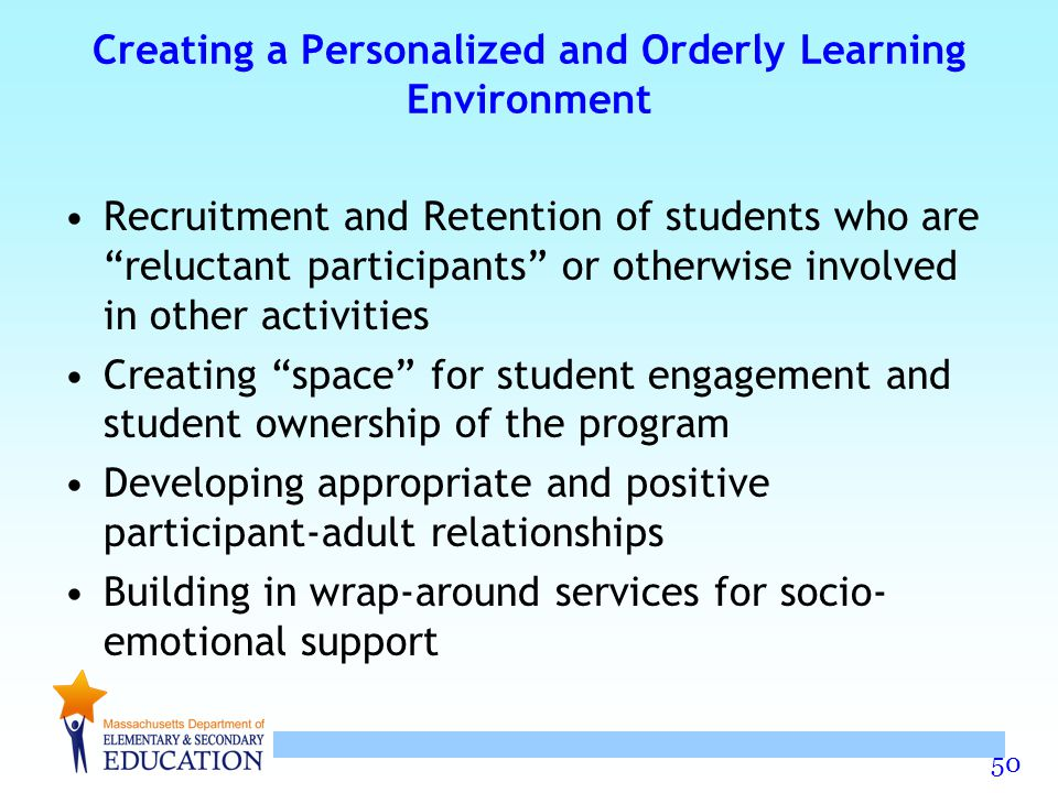 Creating a Personalized and Orderly Learning Environment